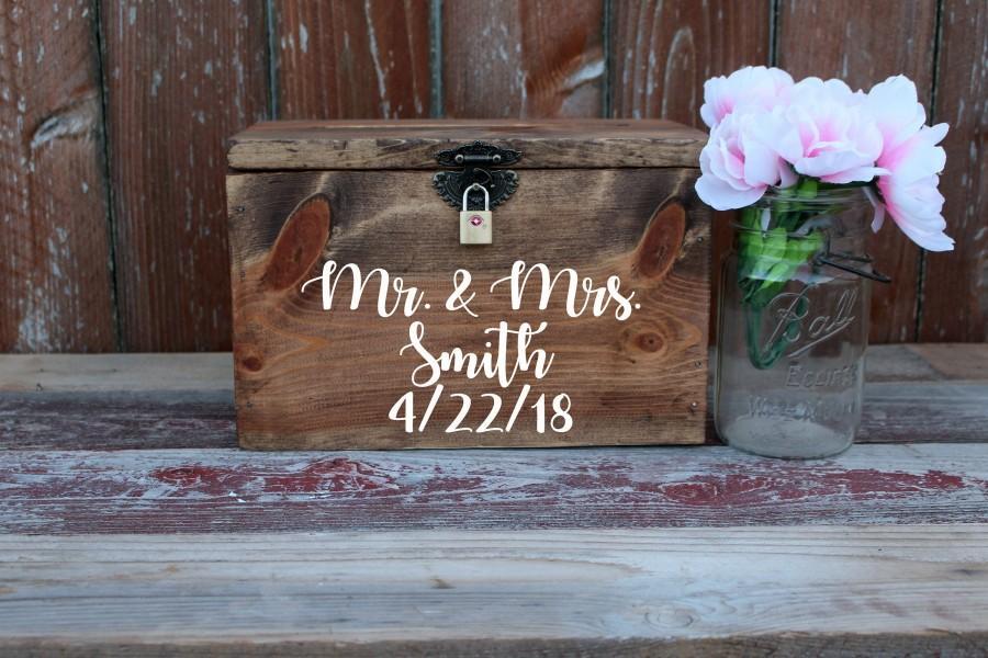 Mariage - wedding card box, rustic wedding card holder, wedding card box, wedding card holder, wedding reception card box, card box, wedding deco