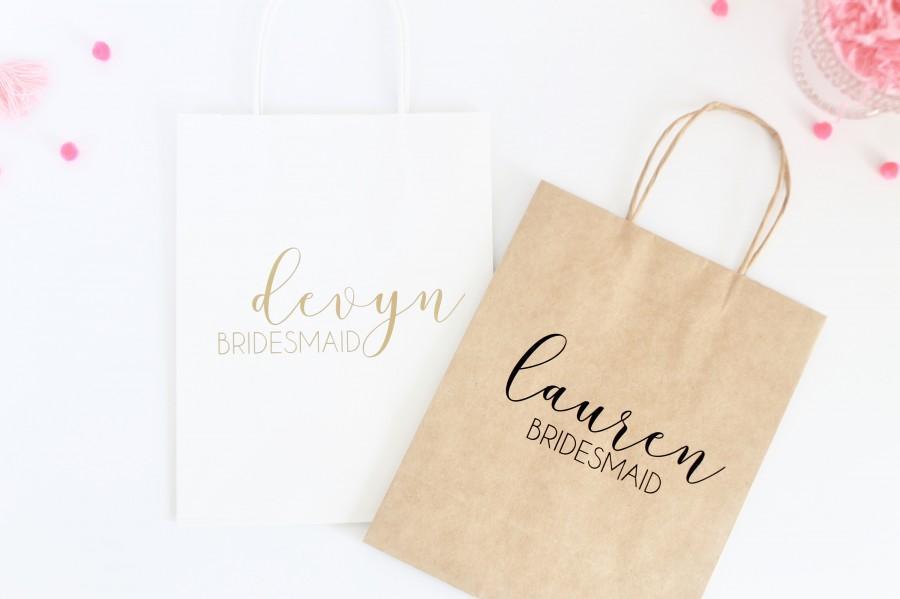 Wedding - Personalized Gift Bag - Custom Gift Bag-Bridesmaid Gift Bag-Bachelorette Party Gift Bag-Bridesmaid Bag - Personalized Bag- Wedding Gift Bag