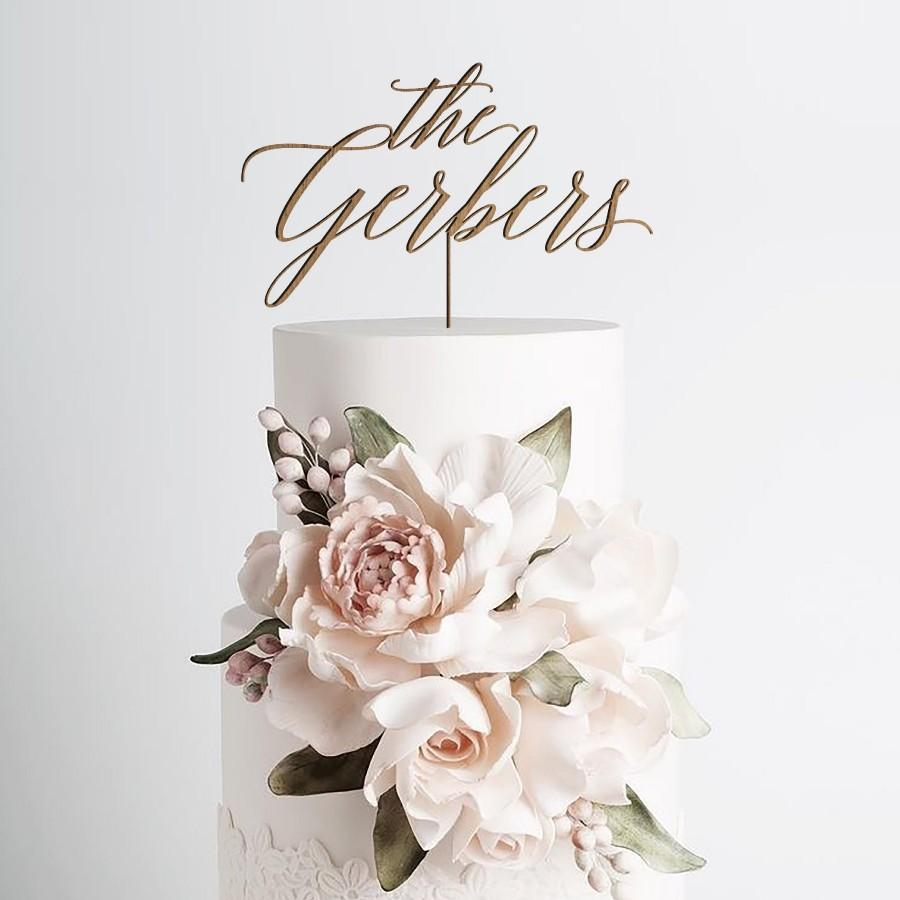 Wedding - Rustic Wedding Cake Topper by Rawkrft - Gold, Silver, Rose Gold or Natural Wood - Customize Your Own - Designed and Made in Los Angeles