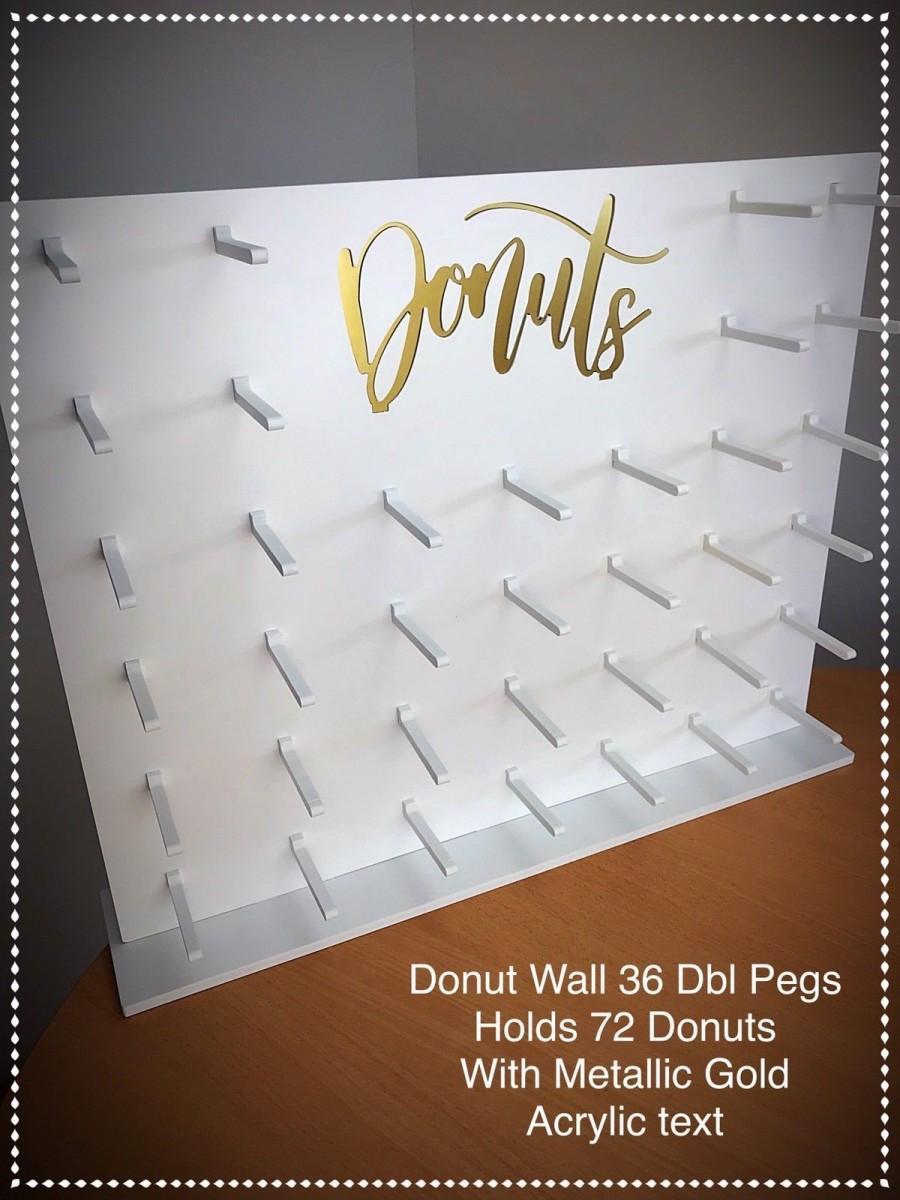 Wedding - Donut Wall Doughnut Wall.36-72 Donuts Candy Cart Sweet Cart 71x58cm White.DE36AG