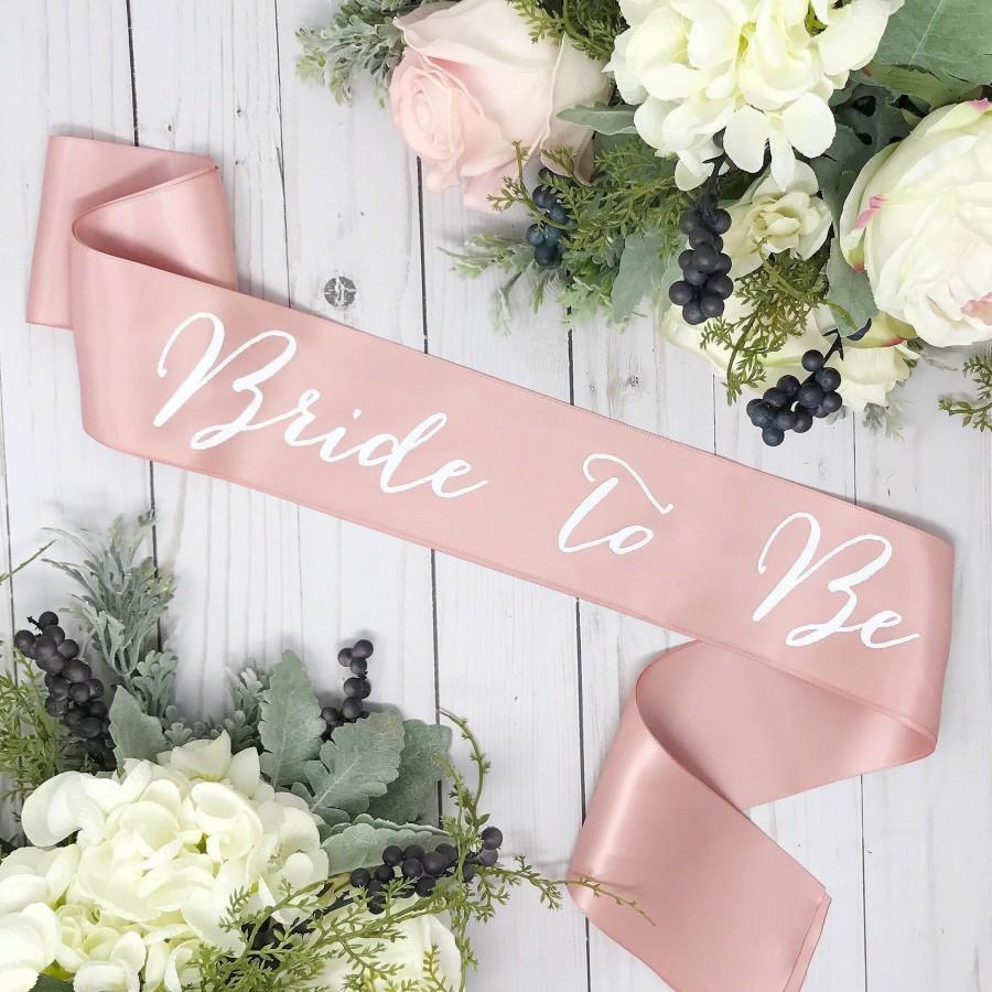 Свадьба - Satin Bachelorette Sash - Bachelorette Party - Bride To Be Sash -  Rose Gold Sash - Bridal Shower - Gift For Bride