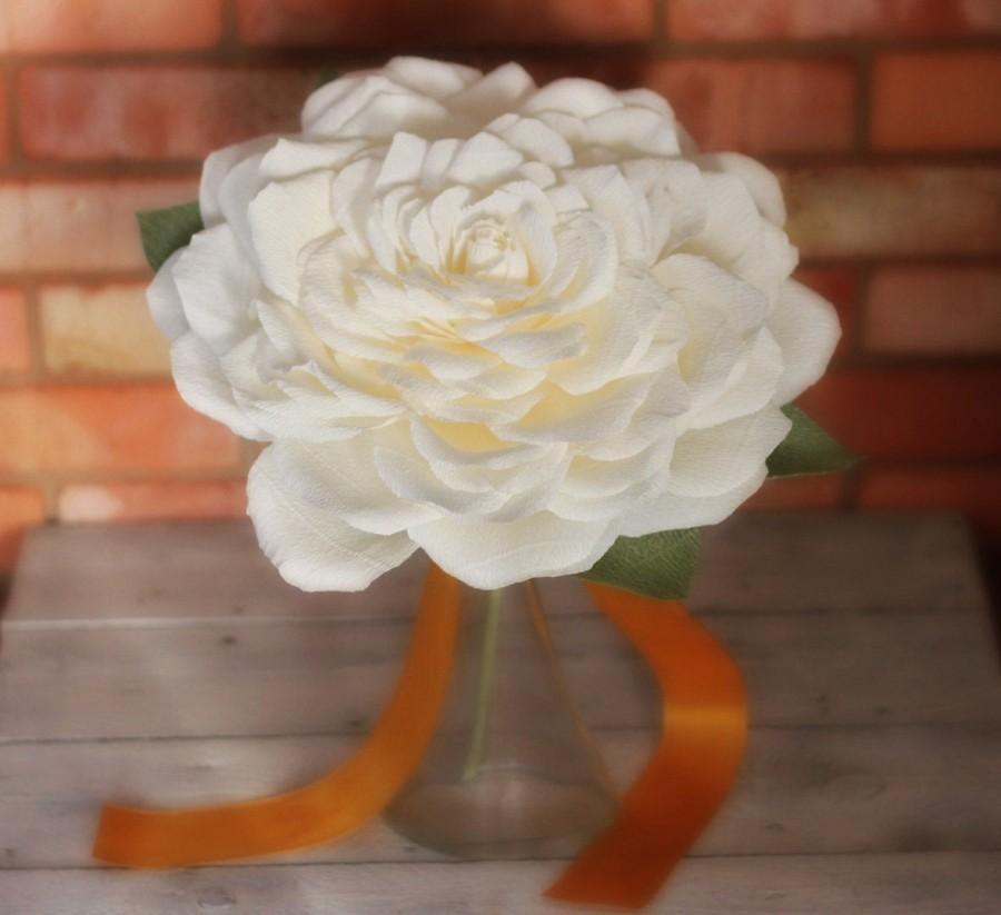 Свадьба - Single Flower Bouquet giant flower bouquet giant flower with stem Glamelia wedding bouquet giant paper flower wedding set