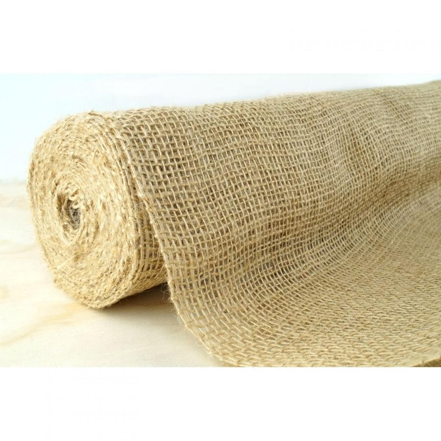 Hochzeit - 10 Metres Hessian Burlap Material Roll Wedding Table Runners Rustic Country Decorations Supplies