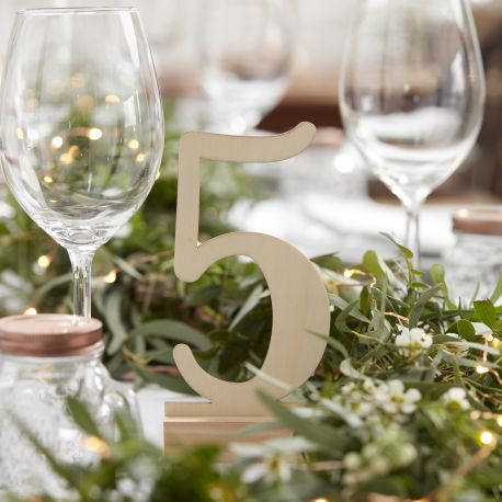 Mariage - Wooden table number