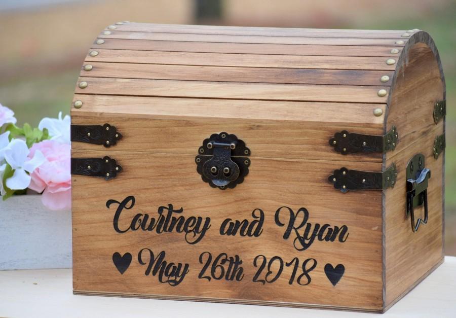 Mariage - Rustic Wood Card Box - Large Card Box - Wedding Cards - Laser Engraved Wedding Card Box - Anniversary Card Box - Graduation Card Box