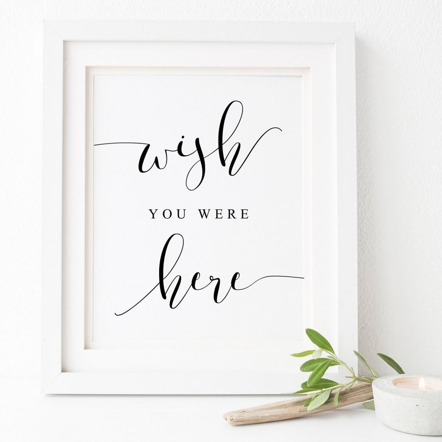Mariage - Wish You Were Here Sign.Wish You Were Here Printable.Wedding Reception.In Loving Memory Sign.Memorial Printable.Wedding Memorial.Signs.