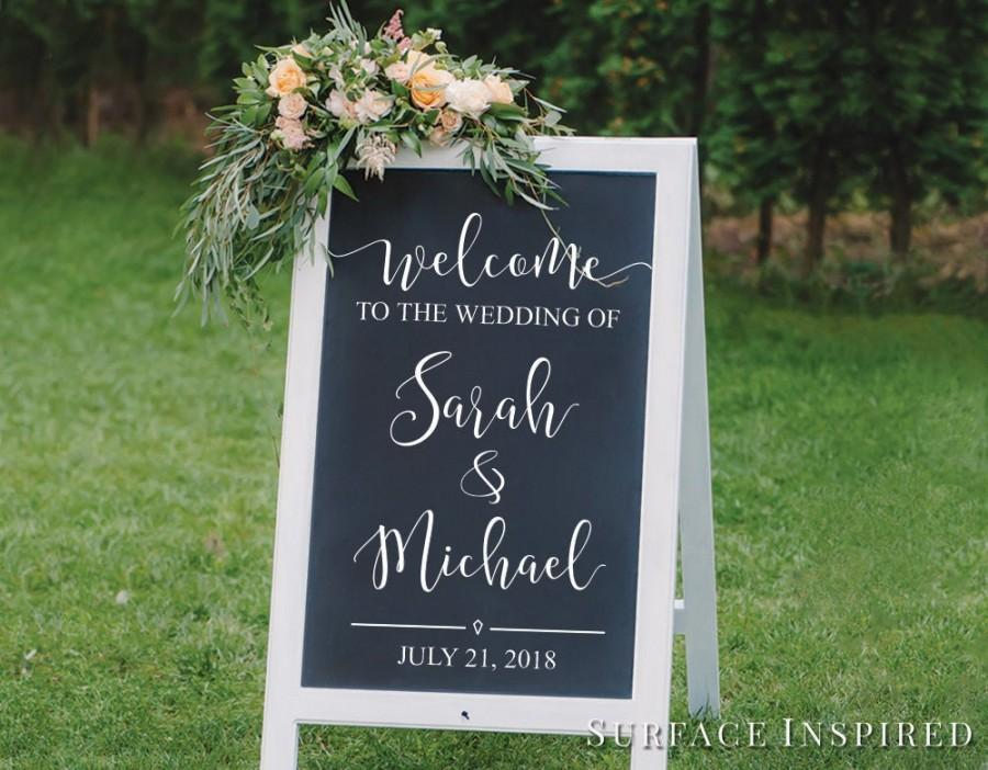 Wedding - Wedding Decor Sign Welcome Decal Chalkboard Decals Welcome To The Wedding Sign Wedding DIY Decals - Custom Wedding Sign Decal