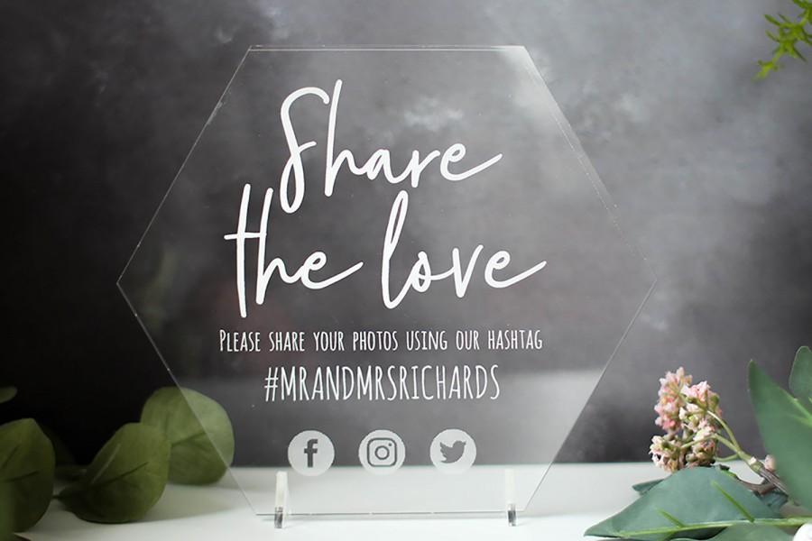 Wedding - Personalised Instagram Social Media Wedding Sign, Social Media Sign, Wedding Sign, Instagram, Facebook, Twitter, Icon, Social Media Icons