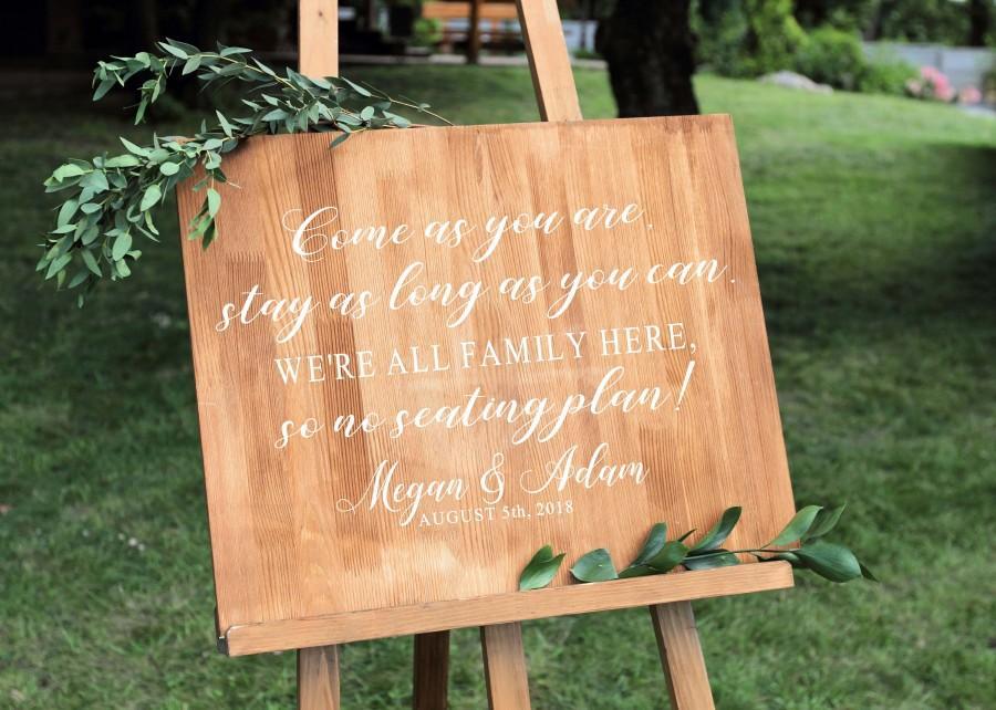 Свадьба - Wedding Seating Sign - Decal - Seating Sign - Wedding Sign - Wedding Seating - Wedding Signs - Wedding Signage - Rustic Wedding Sign - usa