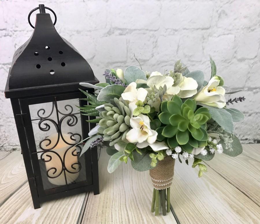 Wedding - Wedding Bouquet, Bridal Bouquet, Succulent Bouquet, Greenery Bouquet, Artificial Bouquet, Silk Bouquet, Corsage, Boutonierre