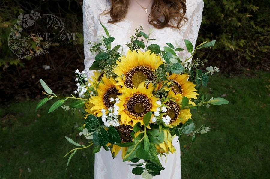 Mariage - Sunflower Bouquet,Wedding Bouquet,Wedding flowers,Bridal Bouquet,Destination wedding,Wedding Photography,Wedding decoration,Boho Wedding