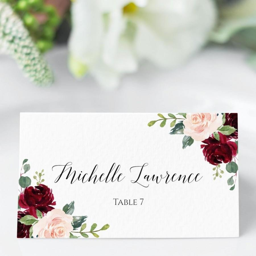 Wedding - Place Cards, Place Cards Wedding, Fully Editable Place Card Template, DIY Escort Cards, Reserved Seating Card, Name Card, Templett, C6