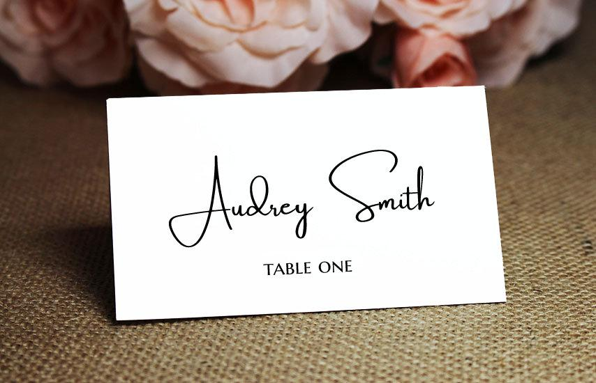 Mariage - Wedding Place Cards or Escort Cards