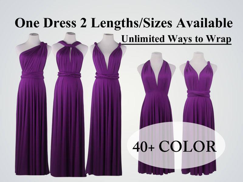 Wedding - Bright Purple Bridesmaid Dress long infinity dress short convertible bridesmaid dress infinity dress long maxi dress wedding dress