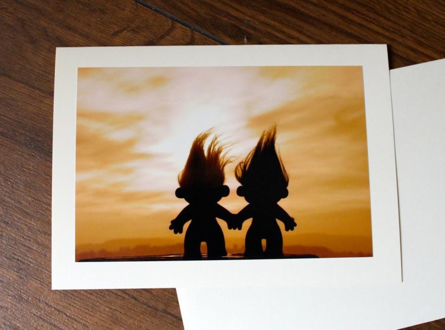 Mariage - Trolls Funny Birthday/ Engagement/ Anniversary Card, Retro Toys Fun Wedding card, Couples Love