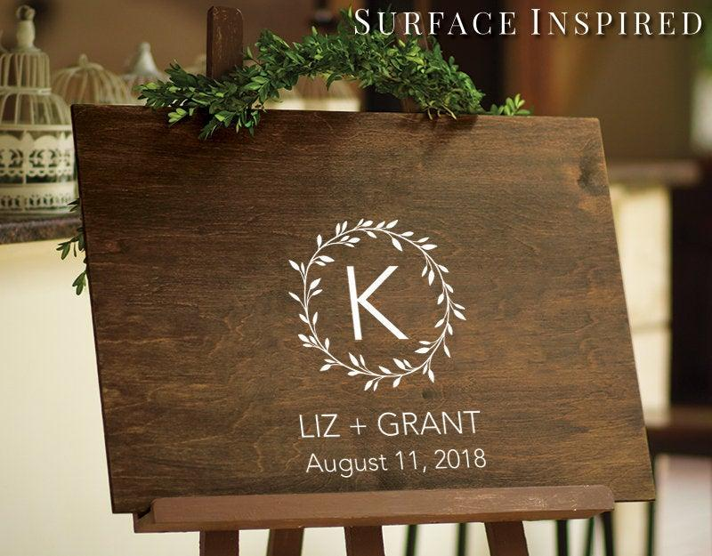 Свадьба - Rustic Wedding Guest Book Decal - Wedding Chalkboard Decals - Wedding Decor - Wedding DIY Decals - Custom Wedding Guest Book Board Decal