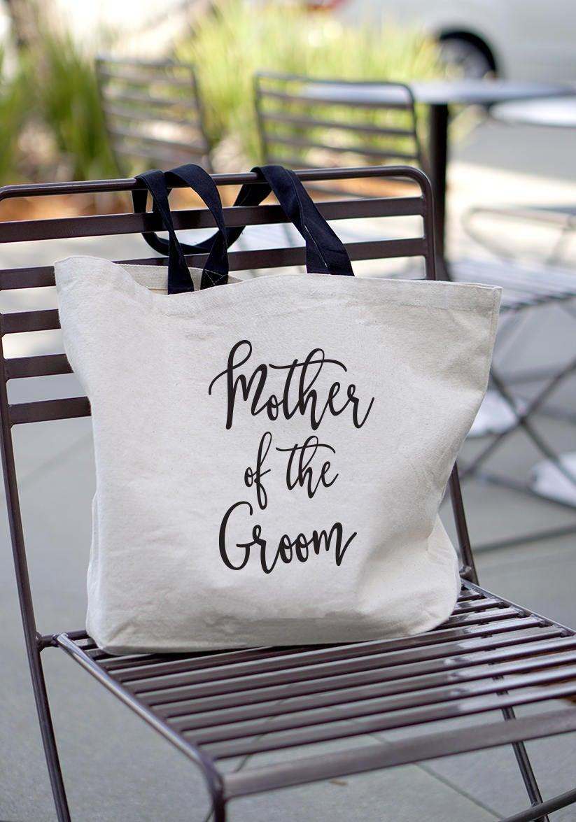 Wedding - Mother of the Groom Gift - Mother of Groom Gift - Welcome Tote - Mother in Law Gift - Grooms Mom - Canvas Tote Bag - Wedding Tote Bags