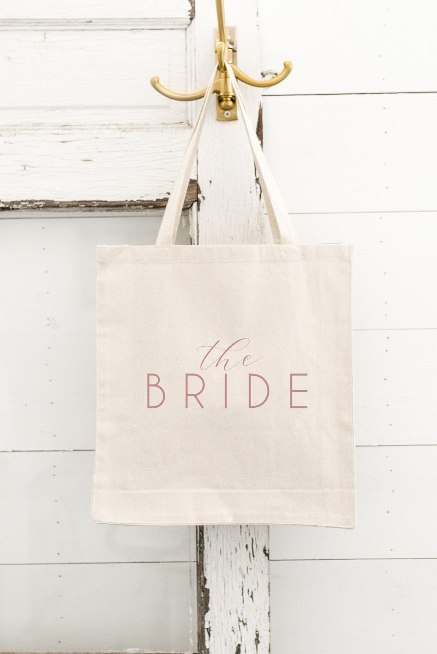 Wedding - The Bride Tote - Mrs Tote - Bride Gift - Bride Bag - Bachelorette Party Tote - Bride Tote Bag - Bridal Shower Gift - Wedding Tote