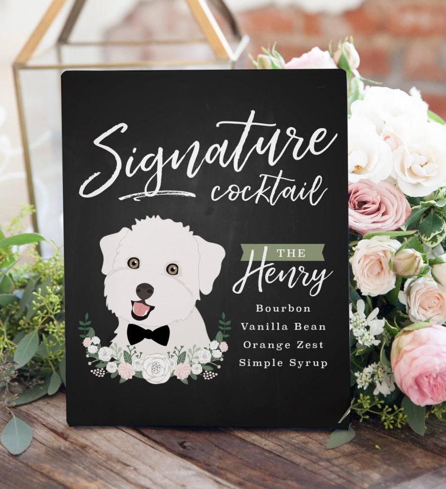 Свадьба - Signature Drinks Sign, Signature Cocktail Sign, Wedding Bar Sign, Wedding Bar Decor, Pet Cocktail Sign for Wedding, Pet Drinks sign wedding