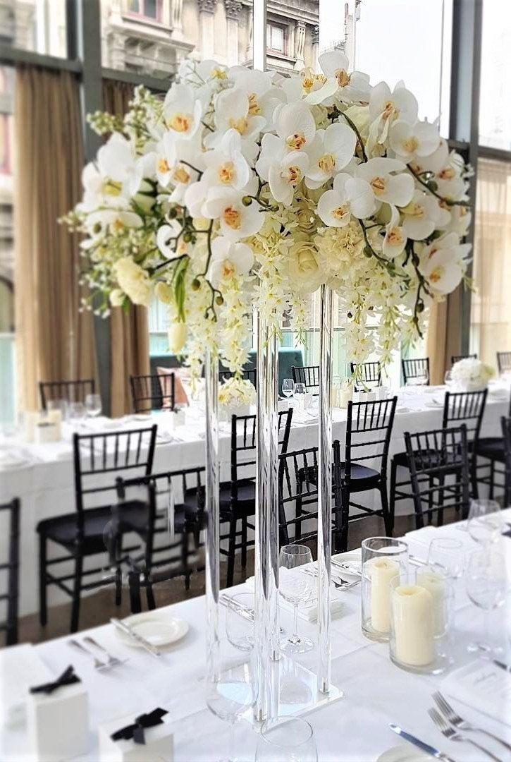 Свадьба - NEW! Clear Acrylic Modern Rectangular Tall Stand Wedding Centerpiece