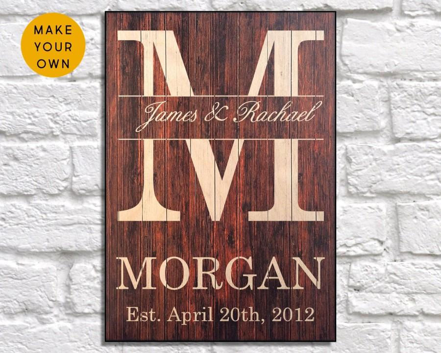 Mariage - Personalized wedding gift for Couple gifts Custom Wood signs Wedding gifts Bridal shower gift Rustic wedding decor Panel effect Wooden signs