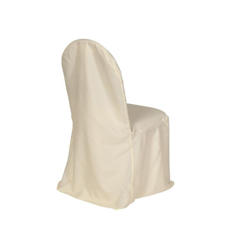 Свадьба - Ivory Polyester Banquet Chair Cover