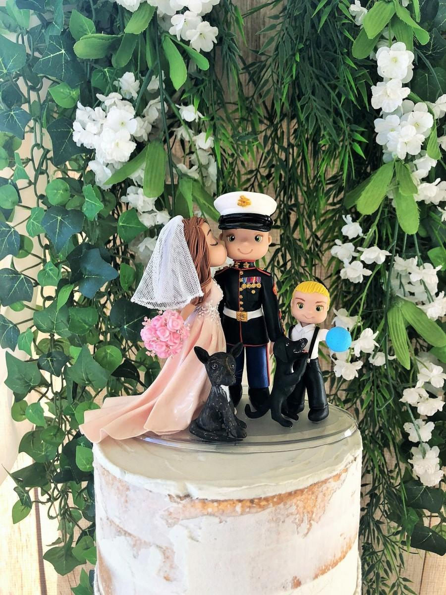 Mariage - Custom Handcrafted Wedding Cake Topper
