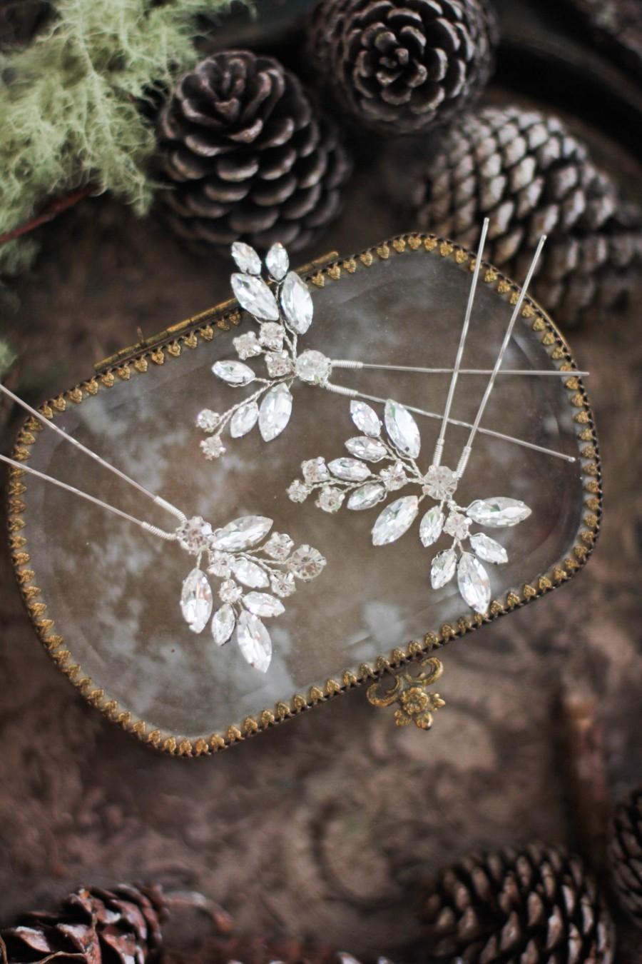 زفاف - Wedding Hair Pins ONE PIN Bridesmaid Jewelry Gift Mother of Bride Hair Pins Bride Bridal Hair Mini Clips Wedding Hair Piece Small Comb