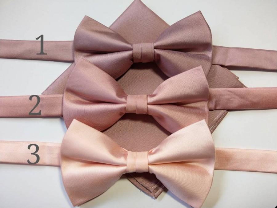 Mariage - Blush Pink, Quartz, Dusty Rose, Light Rose, Mink bow tie