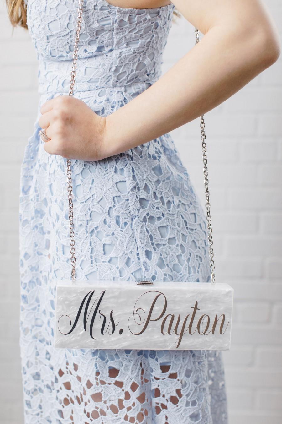 زفاف - Custom Acrylic Clutch
