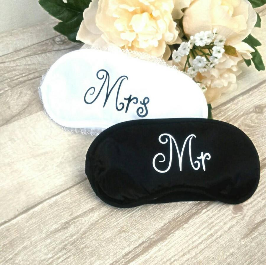 Mariage - Mr and Mrs gift, Mr and Mrs eye mask, sleeping mask, hen party, party favours, wedding gift, Mr and Mr,  Mrs and Mrs, eye mask,  gay wedding