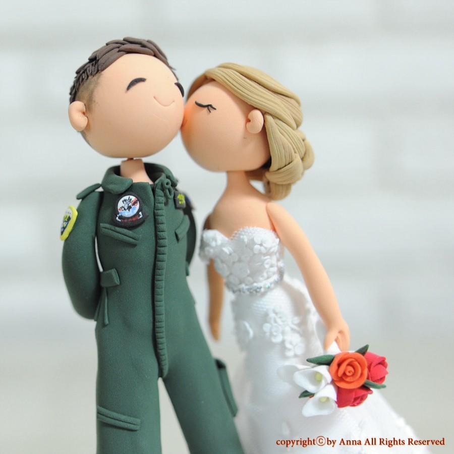 Свадьба - Fighter Pilot wedding cake topper