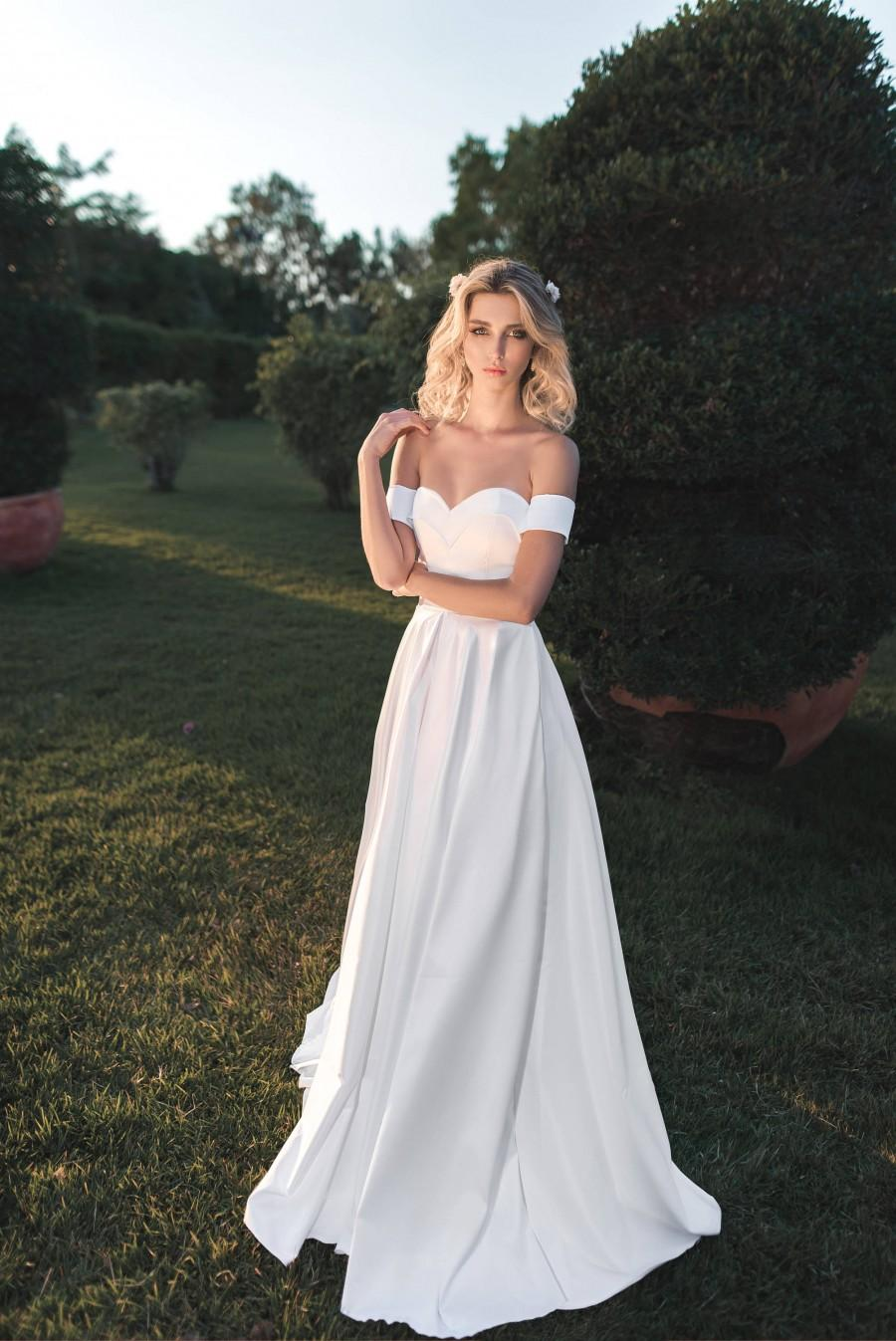 Wedding - Classic Timeless Strapless Sweetheart Wedding Dress, White Party Maxi Dress