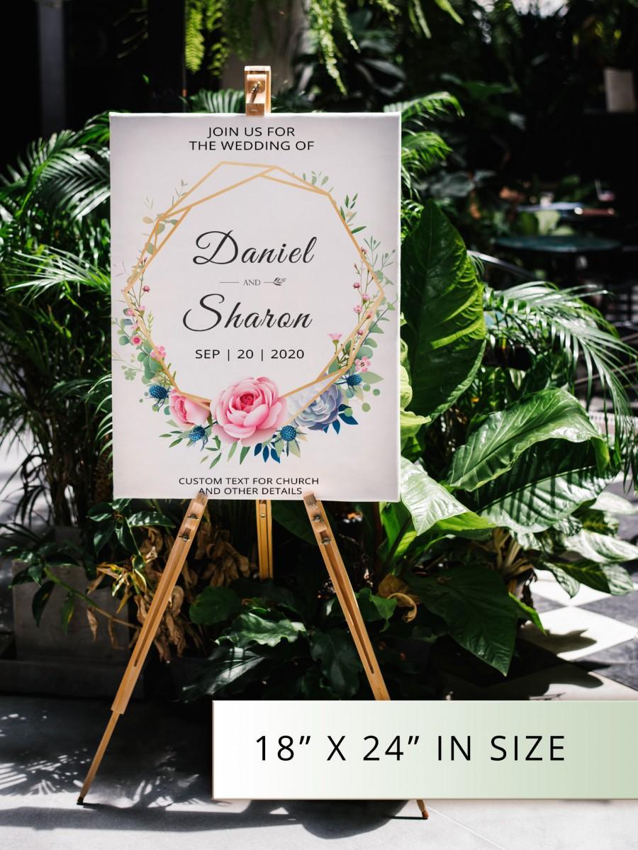 Свадьба - Wedding Welcome Sign. Floral Boho Wedding Reception Sign. Church Entrance Sign. Wedding Welcome Poster Printable Digital Welcome PDF