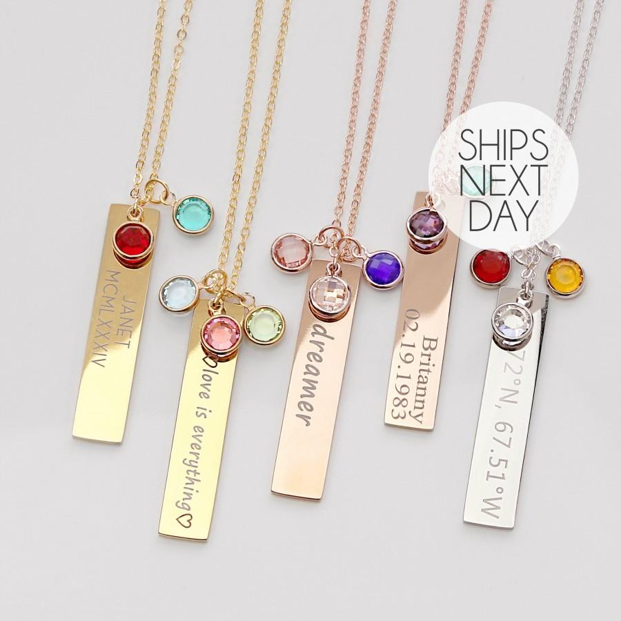 Mariage - Birthstone Necklace Women Gemstone Jewelry Gift Necklace Birthstone Gift Turquoise Jewelry Ruby Necklace Name Necklaces Ruby Necklace 8N-BS