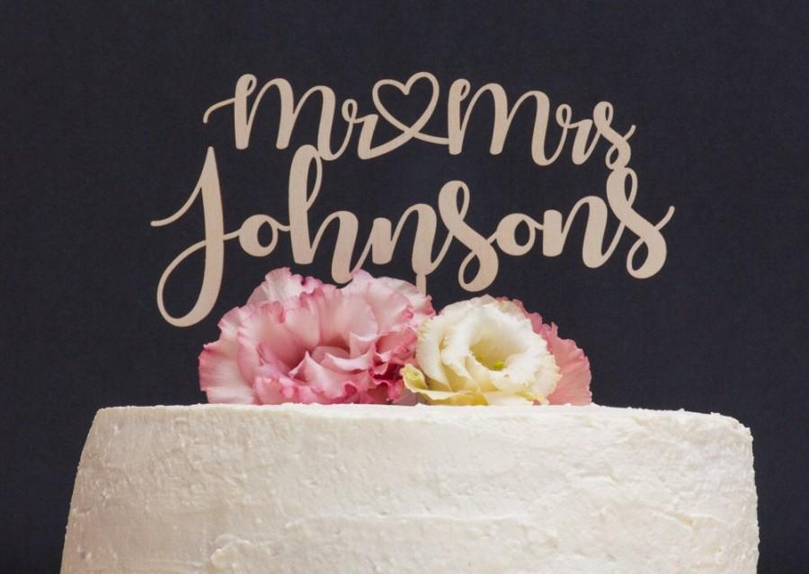 Wedding - Personalized Wedding Cake Topper, Wood Cake Decor, Wooden Cake Topper, Wedding Decoration, Personalized cake topper, Wedding cake topper
