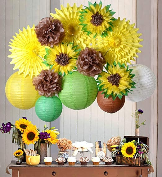 Wedding - PAPER JAZZ Sunflower Party Decoration kit Summer Birthday Wedding Bridal Shower