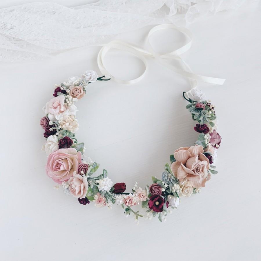 زفاف - Flower crown, Bridal flower crown, Wedding headband