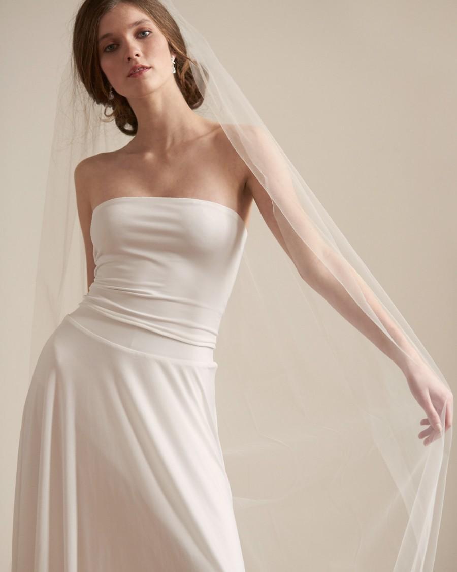 زفاف - Cut Edge Bridal Veil, Wedding Veil, Bridal Veil, Cathedral Length Veil, Chapel Veil, Ivory Veil, Floor Length Veil, Fingertip Veil ~VB-5093