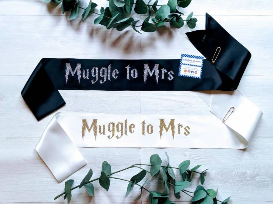 Свадьба - Muggle to Mrs Bachelorette Sash
