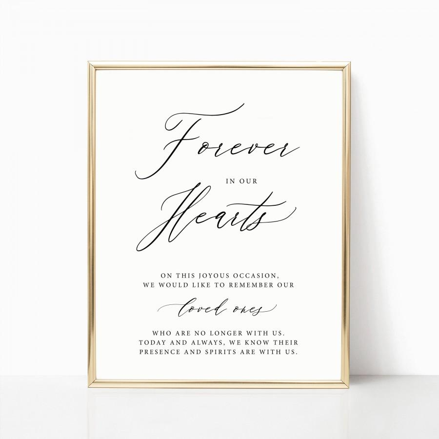 Свадьба - In Loving Memory Printable Sign