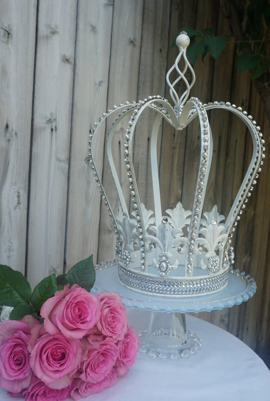 Mariage - Vintage Look Decorative Crown Centerpiece