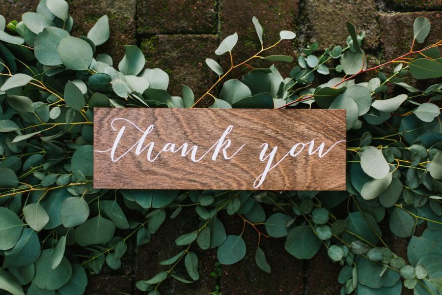Wedding - thank you Sign, wedding thank you sign, wood thank you sign, wood wedding thank you sign, Wooden Wedding Signs, Wood -nc