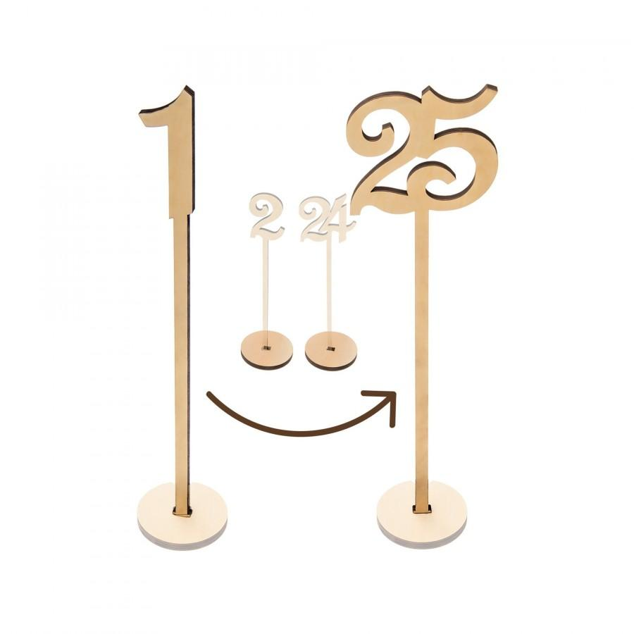 "Свадьба - Wooden Table Numbers 1-25 Pack, 13.5"" Tall Large Extra Thick Heavy Duty Commercial Grade Wood. For Weddings Receptions, Banquets & Parties"