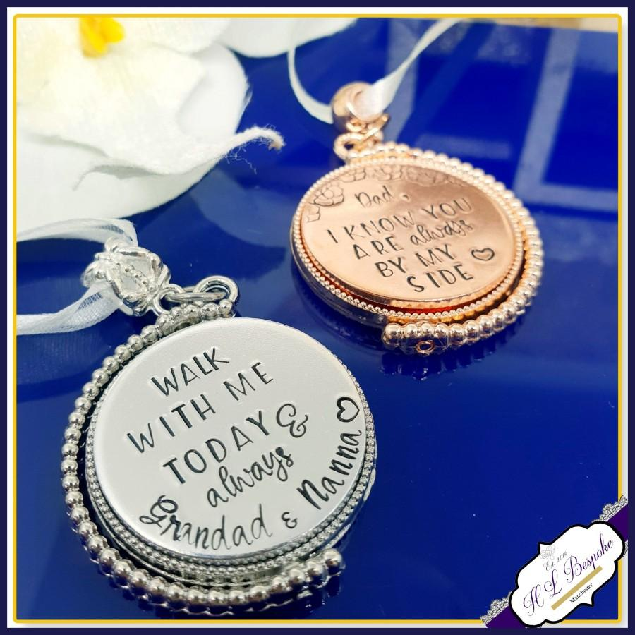 Mariage - Personalised Photo Bouquet Charm Rotating - Spinning Memorial Bouquet Charm - Bridal Photo Bouquet Charm - Wedding Bouquet Charm - Memorial