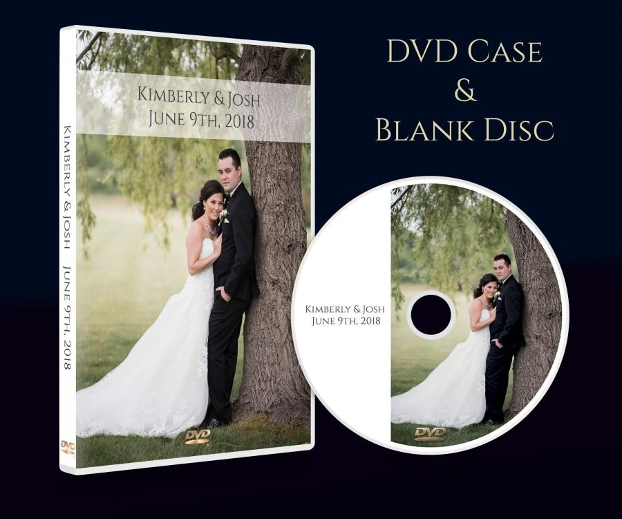 Mariage - Custom CD DVD Box, Personalised dvd Case - Wedding Music, Video, Wedding Photographs, Cover and Disc. Printed Disc. Your image & Text