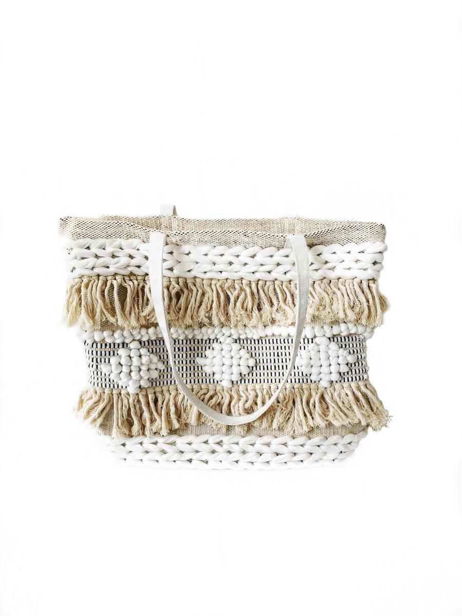 Mariage - Bohemian Handwoven Tote Bag, Beach Tote Bag, Beach Purse, Boho Bag, Boho Beach Bag, Fringed Boho Bag, Tote Bag, Hand Loomed Bag, Bahia Tote