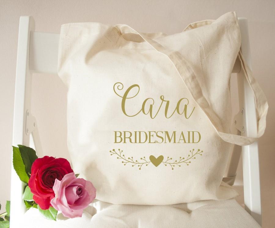 زفاف - Personalised Stylish Calligraphy Wedding Tote Bag - Stylish Cotton Bag - Bridal Party Bags-Wedding Tote Bag - Bags & Purses - Bridesmaid Bag