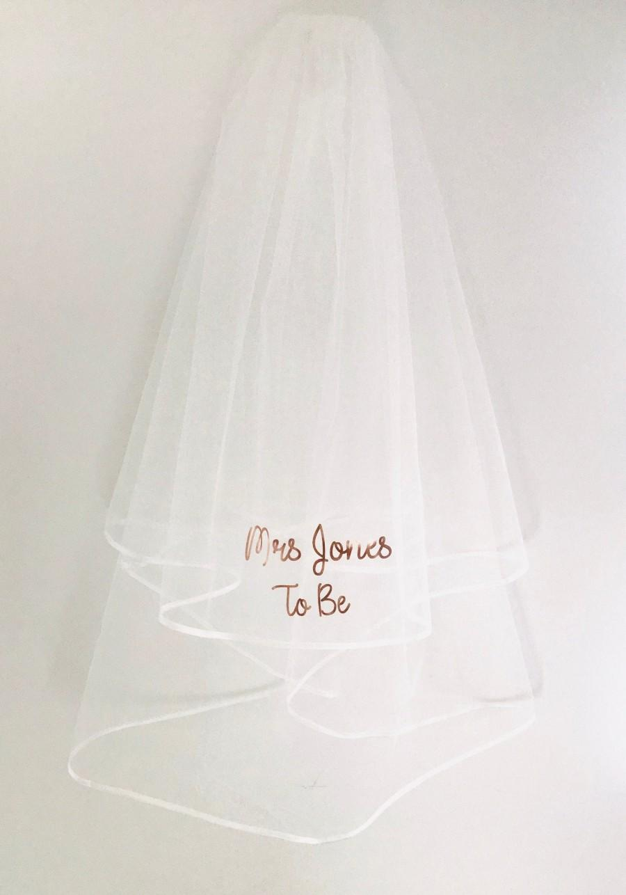 Mariage - Personalised bride to be hen party veil