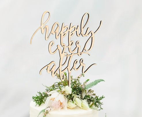 Свадьба - Rustic HAPPILY EVER AFTER Wedding Cake Topper - Cake Toppers - Rustic Country Chic Wedding - Wedding Cake Topper - Beach Cake Topper